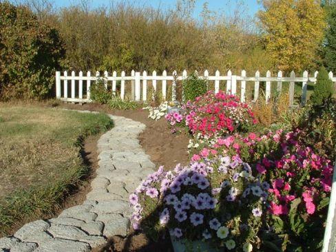 flowerbed walkway, Sept. 26, '12
