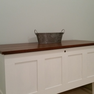removed moulding and hardware, added poplar strips and paint.