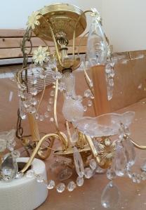 unpainted chandelier